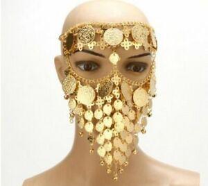 Luxurious Metal Headpiece Egyptian Style Dripping Head Dress Womens Jewelry Chai