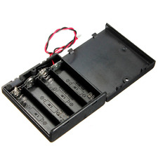 Battery Holder Case Storage Box With OFF/ON Switch Wires For Output DC 6V 4 X AA