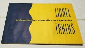 """Original 1952 LIONEL """"INSTRUCTIONS FOR ASSEMBLING AND  OPERATING LIONEL TRAINS"""