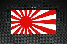 Japón Sol Naciente Calcomanías Pegatinas/2 X 100mm X 55mm-Impreso & Laminado
