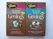 The Standard Deviants - Rockin' World of Geology - Part 1 & 2 VHS Video Tape Lot