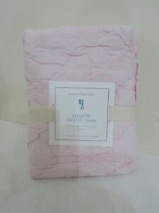 POTTERY BARN KIDS BRIGETTE QUILTED PINK PILLOW SHAM NEW STANDARD
