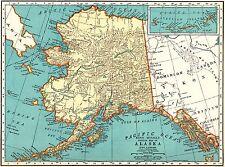 1939 Antique ALASKA Map Vintage 1930s Map of ALASKA Gallery Wall Art 5138