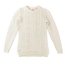 LACOSTE LIVE Damen Pullover S 36 Pulli Zopfmuster creme Women Sweat Knit Jumper