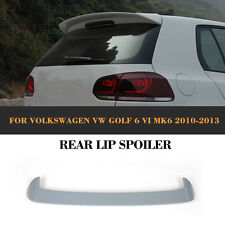 Unpainted PU Rear Roof Spoiler Wing Factory Fit For VW Golf 6 VI MK6 2010-2013