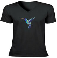Unisex Bee Hummingbird Shirts Mens Women Vneck Tee T-Shirt Bird Animal SZ S~2XL