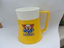 1971 BOZO the CLOWN Character Mug or Cup Quikut USA Fremont Ohio YELLOW