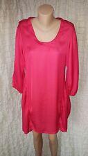 The Masai Clothing red fuschia 3/4 sleeve tunic dress size M