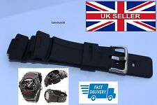 WATCH STRAP for CASIO G-SHOCK G101 G100 G2300 Black Rubber New Replacemen New