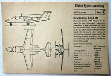 DDR Kleine Typensammlung Luftfahrzeuge - Strahltrainer SAAB 105