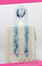 VOCALOID Miku cosplay wig costume blue colour snow ver