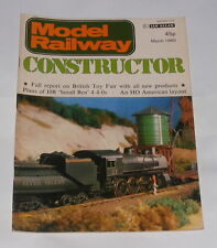 MODEL RAILWAY CONSTRUCTOR MARCH 1980 - PLANS OF HR 'SMALL BEN' 4-4-0S