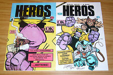 Heros #1-2 VF/NM complete series - OK comics set lot - signed & numbered - 1991