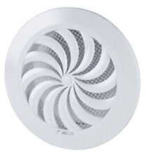 Round Air Vent Grille 125mm with Shutter and Fly Screen Mesh Ducting Cover T86