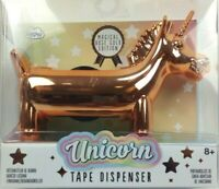 Unicorn Tape Dispenser,Magical Gold Rose Edition with 1 Roll Rainbow Tape -New