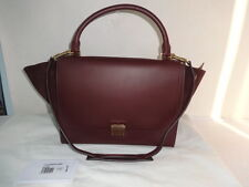 Authentic Celine Burgundy Leather/Suede Trapeze Tote Shoulder Bag Excellent