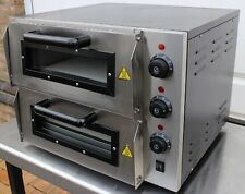 """Infernus Double Deck Electric Table Top Pizza Oven Stone Base 16"""" Pizza"""