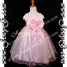Robes roses en polyester pour fille de 2 à 3 ans