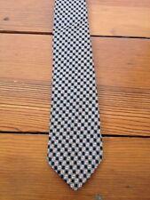 Vintage Mod 60s Super Skinny Mid Century Black White Rude Boy Patterened Tie