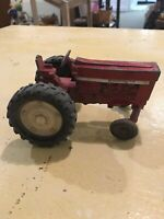 Vintage Farm Metal International 5 Inch Red Toy Tractor