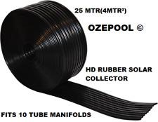 Hydromatt H.D. black heavy duty 10 tube solar collector, 10 year warranty