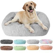 Rectangle Pet Dog Cat Warm Bed Long Plush Calming Sleeping Bed Ultra Soft