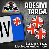 ADESIVI STICKERS BOLLINO TARGA BANDIERA INGLESE UK FLAG AUTO MOTO PLATE CAR