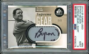 ⛳️ 2014 SP Game Used Golf Supreme Gear 1/3 BYRON NELSON shirt PSA 9