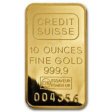 10 oz Gold Bar - Brand Name - SKU #75
