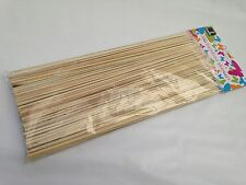 """200 x Barbeque BBQ Grill Kebab Cocktail Sticks Wooden Bamboo Skewers 25cm (10"""")"""