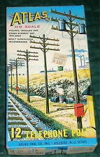 ATLAS - TELEPHONE POLES (12) #775 - HO TRAIN