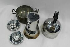 ALESSI 18/10 Stainless Steel Boiler Kettle Espresso Pot Cups Saucers JOB LOT