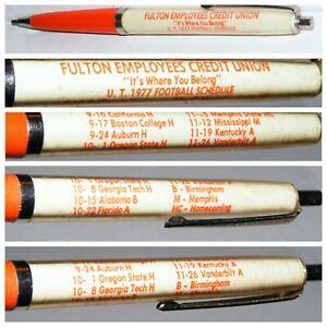 Vtg 1977 University Tennessee Football Schedule Ink Pen TN Vols Volunteers