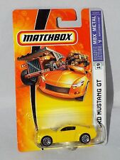 Matchbox 06 - 07 MBX Metal Series #19 Ford Mustang GT  Yellow