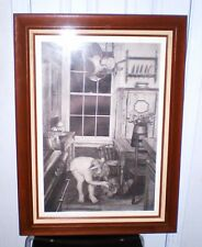 """Bo Adams """"Bedtime"""" 1985 pencil drawing, 250/650, signed & numbered piece, Art"""