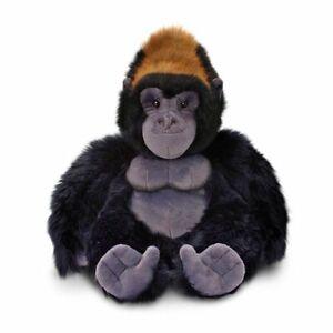Korimco 20cm Silverback Gorilla Kids Animal Soft Plush Stuffed Toy Black 3y+