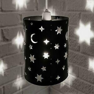 lampshade light shade GIRL BOY star stars BLACK small bedroom baby projection