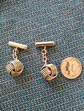 Sterling Love Knot Cufflinks - VINTAGE - nicest on ebay