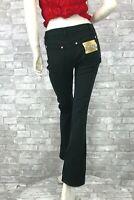 Roberto Cavalli Black Cotton Denim Jeans Pants 2 US 40 IT XS Runway Auth