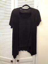 TWO PIECE BLACK BLOUSE AND OVERBLOUSE SMALL SIZE NO LABEL PERFECT FOR TRAVEL