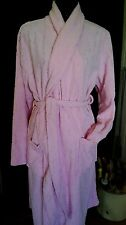 ladies dressing gown MILLERS sculpted rose poly fabric size L  lolly pink as new