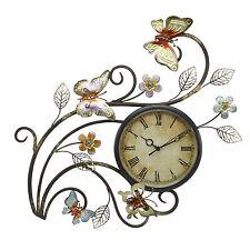Juliana Contemporary Butterfly Metal Wall Art Clock