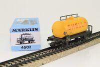 Märklin 4502 H0 Güterwagen SHELL Kesselwagen der DB in OVP