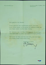Max Schmeling Signed Typed Letter in German (1975) (PSA/DNA)