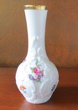 Royal Porzellan Bavaria KPM Embossed Vase w/ Summer Flowers Roses