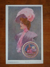 Vassar College Seal Series No.10, Poughkeepsie New York, Beautiful Card, 1905