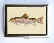 Rainbow Trout fish Cigarette Case Wallet Business Card Holder fisherman