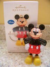 Hallmark 2009 Vintage Tin Mickey Mouse Disney Christmas Ornament