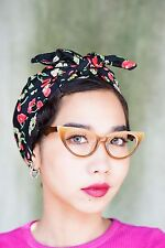 Vintage 1960's Style Cat eye Glasses Rockabilly Multi Color Brown