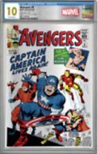 2019 Avengers 4 Cgc 10.0 Gem Mint Silver Foil Replica Sheet Graded